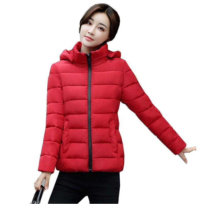 New Winter Women Jacket 2018 Fashion Female Short Parka White duck   down   jacket Casual Female   down     coats   Plus Size L-4XL NW692
