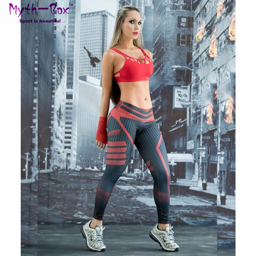 Pant Sportwear Jeggings Football Running Women Jogger Gym Slim Capris Active Print Hip-Fitness