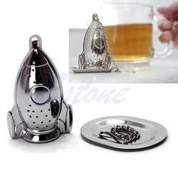 Нержавеющей ракеты сетка для заваривания чая и насадка для получения сплошной струи вкладыша Фильтр Сталь сито для приправ