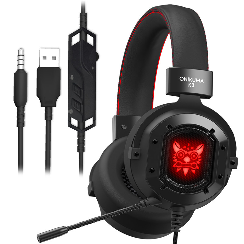 ONIKUMA K3 casque PS4 Gaming Headset Per PC Gamer Bass Cuffie Auricolari con Il Mic per Mac Nintendo Interruttore Nuovo Xbox One PUBG Giochi