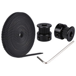 2PCS GT2 Belt 20 teeth bore 5/8mm Pulley With 2M PU With Steel GT2-6mm Open timing Belt  2GT Belt 6mm For 3D Printer parts