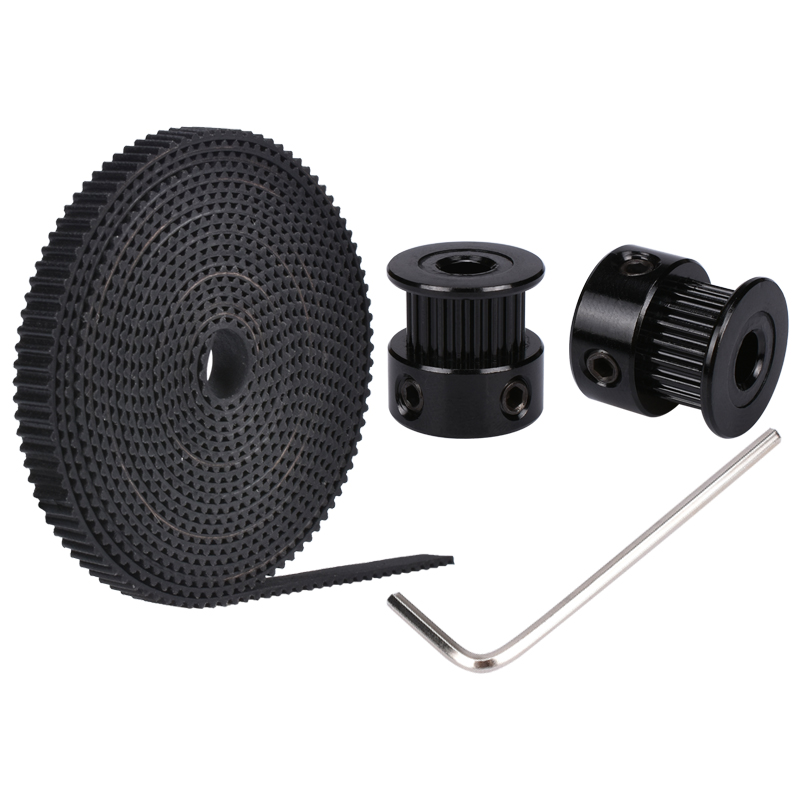 GT2 2PCS 20 teeth bore 5/8 mm Pulley With 2M PU With Steel GT2-6mm Open timing Belt  2GT Timing Belt 6mm Width For 3D Printer clever большая энциклопедия я и мой мир