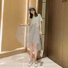 2019 New Pregnancy Clothes Summer Dress Maternity Dress Casual Dot Pregnant Dresses Plus Szie 2018 winter elegant dress loose maternity dress casual pregnancy dress dot plus size dress ruffles pockets