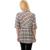 BFDADI 2017 Novo 5XL 6XL mulheres Plus Size Blusas Xadrez cinto Cordão Estilo Solto Camisas Longas Blusa 3502