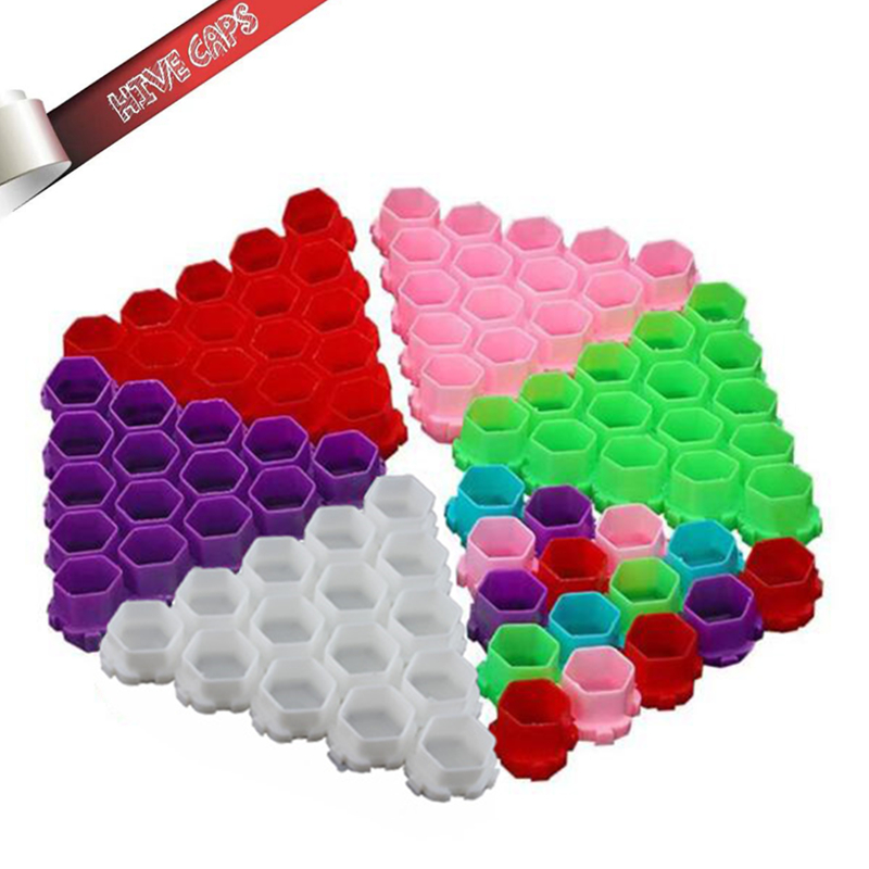 New! Professional Colorful Hive Ink Cup Honeycomb Shape Tattoo Ink Cups Caps For Tattoo Accessories 200pcs/bag Wholesale