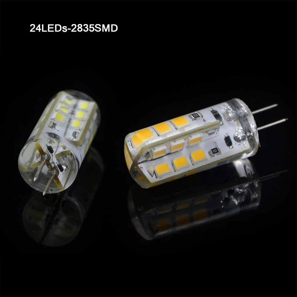 50 pcs G4 LED 12 V AC DC 3 W 6 W Dimmable LED lampu G4 24/48 leds 3014 SMD Bulb Lampu Ultra Terang Gratis pengiriman