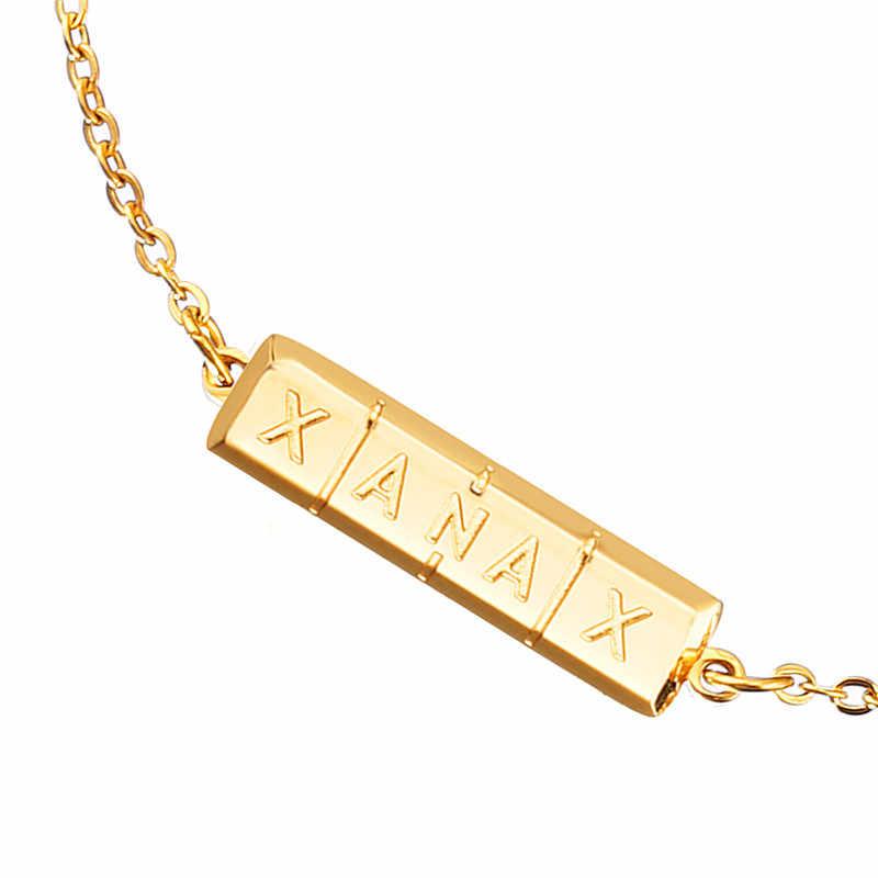 Trendy Bangle Xanax Pill Bar Pulseira Id Roestvrij Staal Vrouwen Ketting Armband Goud Kleur Medische Sieraden Gepolijst Charms Bijoux