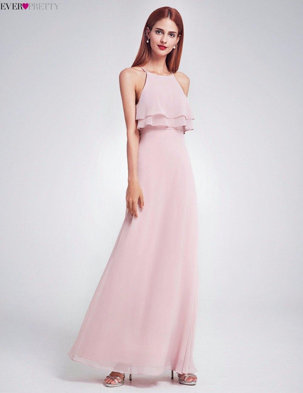 29f12fd253 Bonito 2018 baratos vestidos de dama de honor EP07137 largo volantes  Chiffon Plus tamaño ocasión vestidos de chica vestidos para boda fiesta en  Vestidos de ...