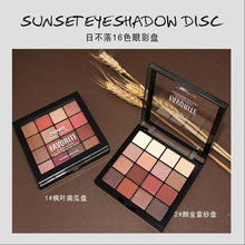 16 color Novo eye shadow disk INS vibrating the same paragraph earth pearlescent matte B station net red makeup