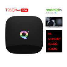 Новый T95Q плюс ТВ коробка Android 8,1 4G32G 64 г HDMI 2,0 H6 Quadcore 2,4 г Wi Fi VP9-10 профиль-2 до 6 к Smart Media Player