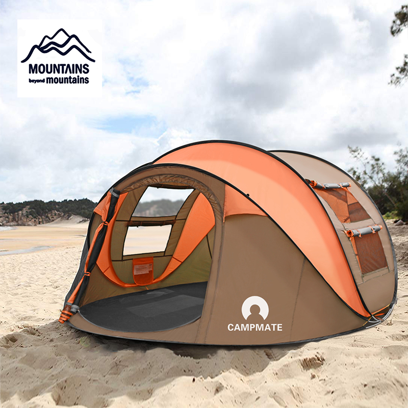 2019 New Outdoor Tent 3-4 Persons Automatic Speed Open Throwing Pop up Beach Tent  Windproof Waterproof Beach Camping Tent
