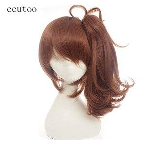 Женские синтетические длинные волосы на клипсе ccutoo, коричневого цвета, «Борьба братьев», Ema Asahina Hinata, термостойкие волосы для косплея