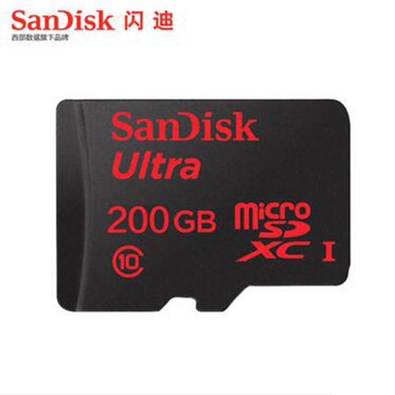 Prix pour SanDisk Micro SD 200 GB Carte Mémoire dans MicroSDXC haute vitesse jusqu'à Max 90 M/s Uitra Class10 TF Flash Carte