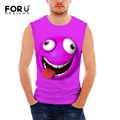 FORUDESIGNS Funny 3D Emoji Tank Tops for Men's Fashion Summer Male Sleeveless Fitness Bodybuilding Clothing Tee Man Undershirt