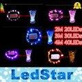 (20 UNIDS/LOTE) alambre de cobre 2 M 20 LEDs/3 M 30 LEDs/4 M 40 LEDs micro semillas de hadas luz de la secuencia luz/LED luz de Hadas de Eiffel florero