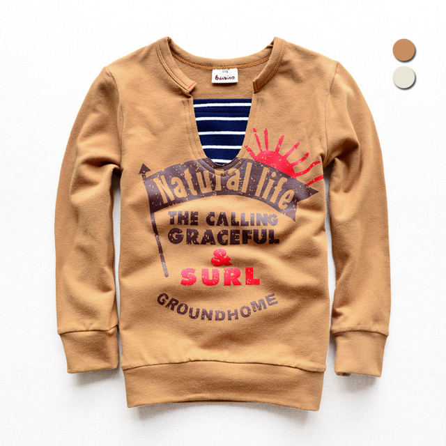 Boy's Long Sleeved Children Hoodies Korean T-shirt Version New Kids Clothing 2 Colour