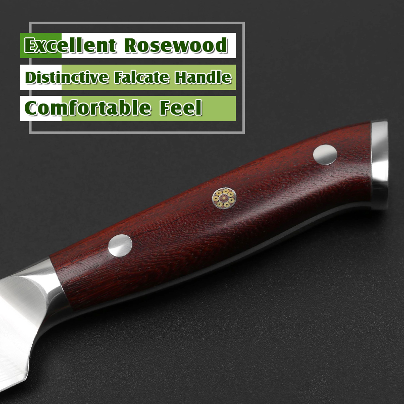 High Quality 5'' Inch Damascus VG10 Steel Steak Knife Rosewood Handle 2