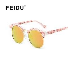 FEIDU Дети Cat Eye Солнцезащитные очки Мальчик и Девочка Мульти Половина сплав Frame Солнцезащитные очки Дети UV400 Óculos De Sol С Коробкой