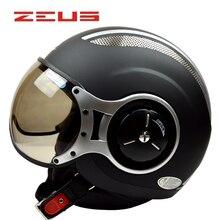 424c2357167 ZEUS motocicleta medio casco cross country casco forro transpirable  extraíble lavable casco 218c(China)