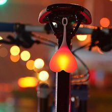Bike Bicycle light LED Taillight Rear Tail Safety Warning Cycling Portable Light Heart Shape Egg Balls