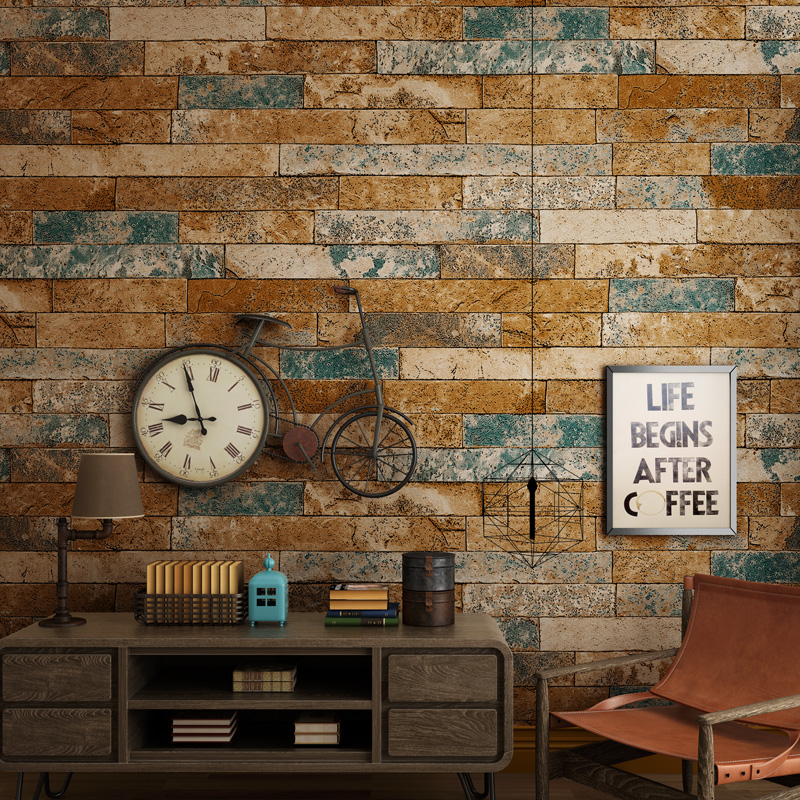 Paysota 3d brick wallpaper antique brick wallpaper for Wallpaper home vintage