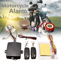 200M 2 Remote Controllers Motorcycle Alarm System Lock Talkin Voice Moto Bike Scooter Anti theft Security Alarm Horn Speaker