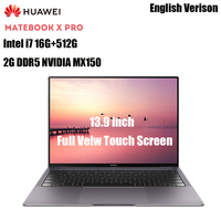 HUAWEI MateBook X Pro Laptops 13.9'' Intel Core I7 16GB 512GB NVIDIA Geforce MX150 Fingerprint Recognition Touch Screen Notebook