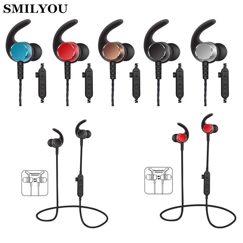 0fd4667c2ac SMILYOU MS-T3 Sport Bluetooth Earphones stereo music wireless headphone for  phone Magnetic Headset headphone with Microphone bluetooth-hifi