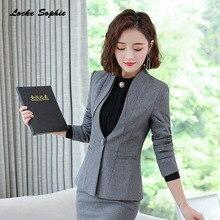 1pcs Women Plus size Blazers coats 2019 Autumn cotton blend Single button V-neck Small Suits jackets ladies Skinny