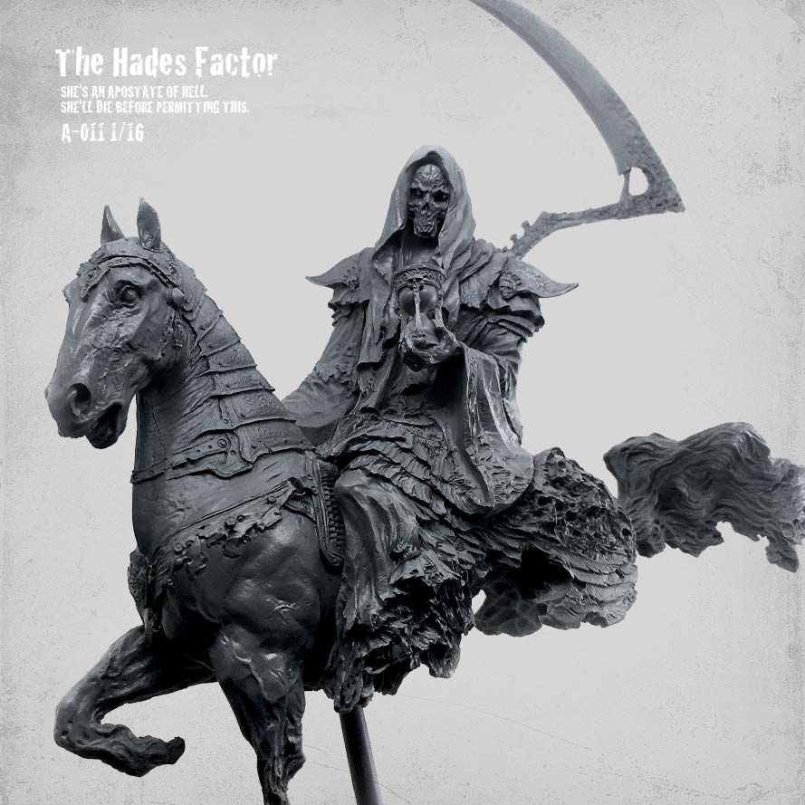 1/16 Figure Kits The Hades Factor Hell Messenger Resin Soldier Colorless And Self-assembled  A-011
