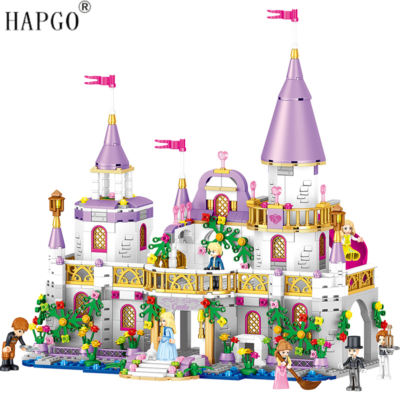 New 731pcs Princess Series Windsor Castle Girls Buliding Blocks Fit For Legoingly Friends Bricks Toys For Girls Christmas Gifts