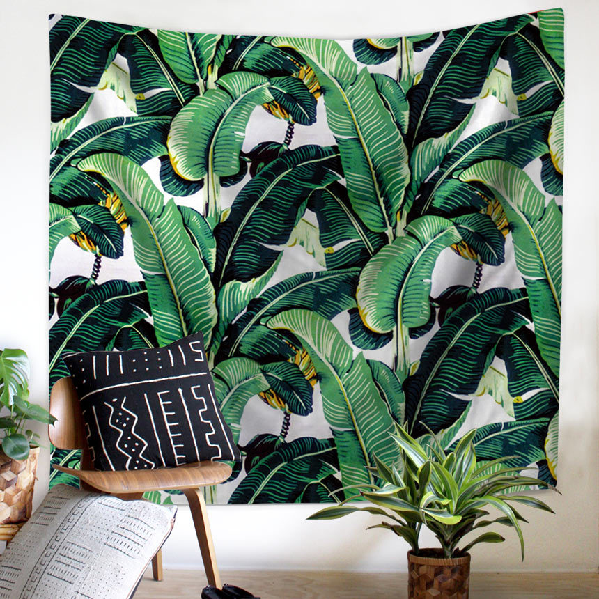 Wall Tapestry Tropical Palm Telopea Monstera Ceriman Wall Decor Large Wall Hanging Wall Art 150x130cm/200x150cm