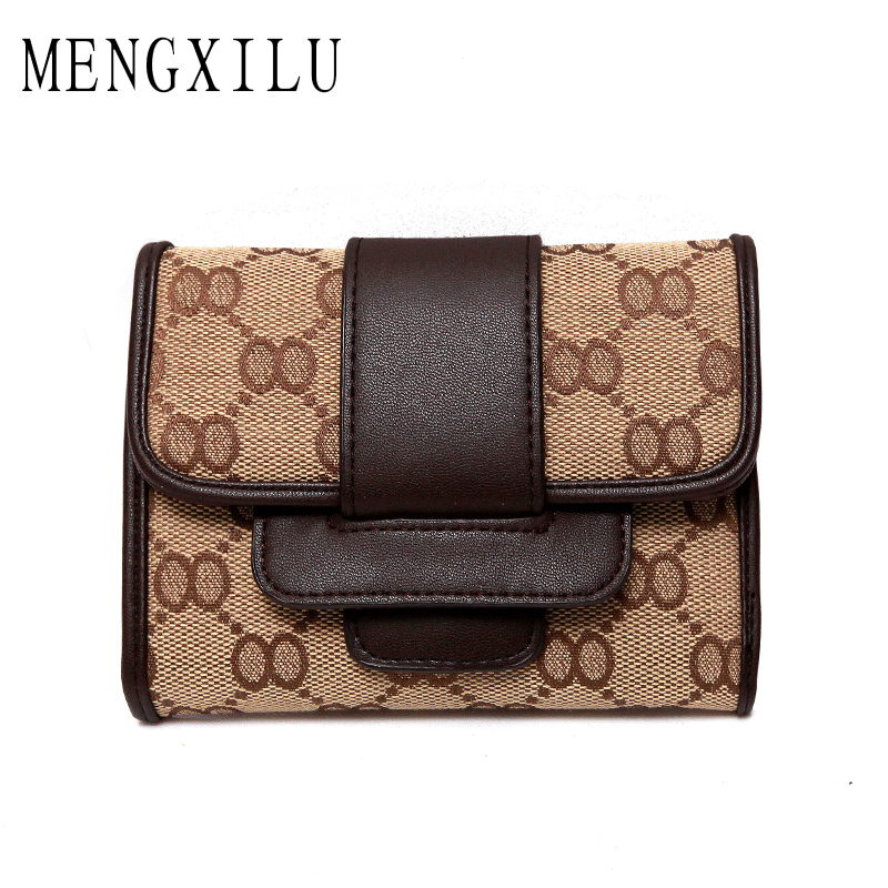 MENGXILU Leather Wallet Female Coin Purse Women Wallets Zipper Clamp For Money Clutch small Walet Women Card Holder Ladies 2018 ...