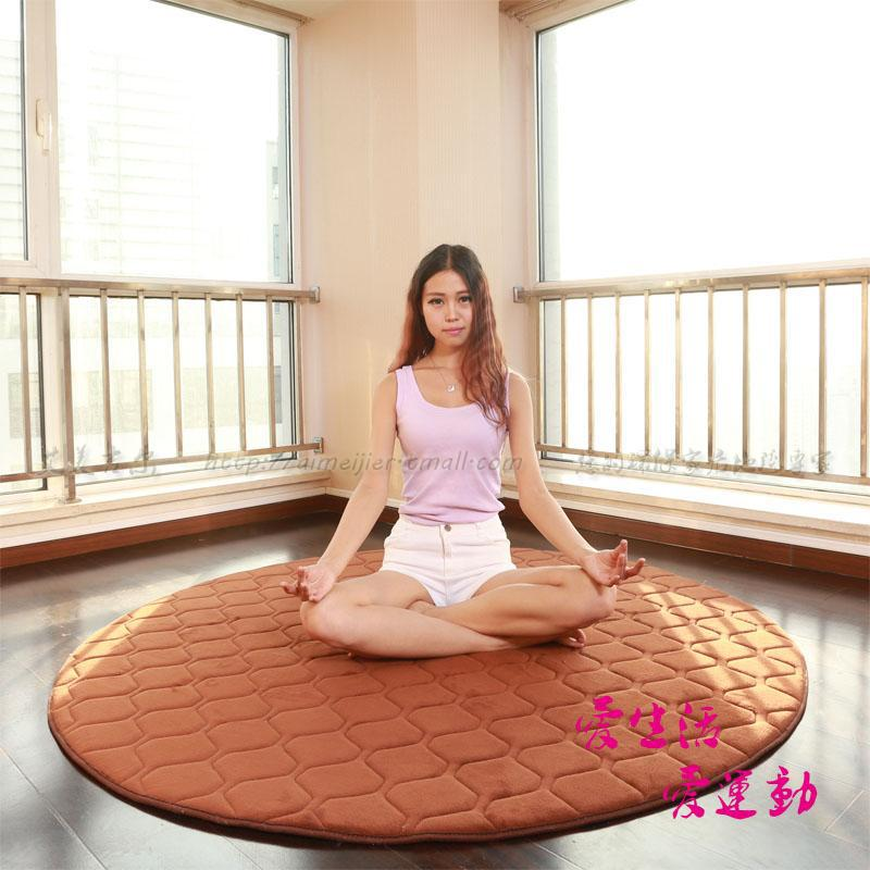 Carpet Alfombras Rugs Tapetes Coral Velvet Thickened Round Yoga Mat Fitness Blanket Factory Direct Quilted Cotton Back