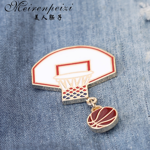 Meirenpeizi булавки и броши для баскетбола влюбленных болельщиков