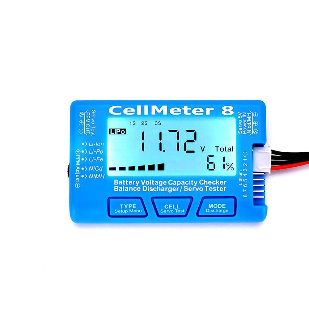 CellMeter 8 Digital Battery Capacity Checker Balance Discharger Tester LiPo LiFe