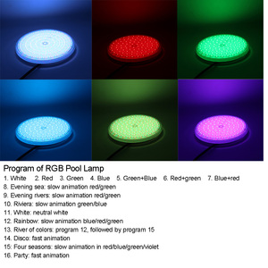Image 4 - RGB Swimming Pool Light 12v Expoxy Filled Surface PAR56 Replacement Piscinas 18W 24W 30W 35W 42W pure white warm white