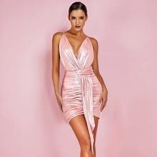 ชุด Bodycon คอ HI1050-Pink