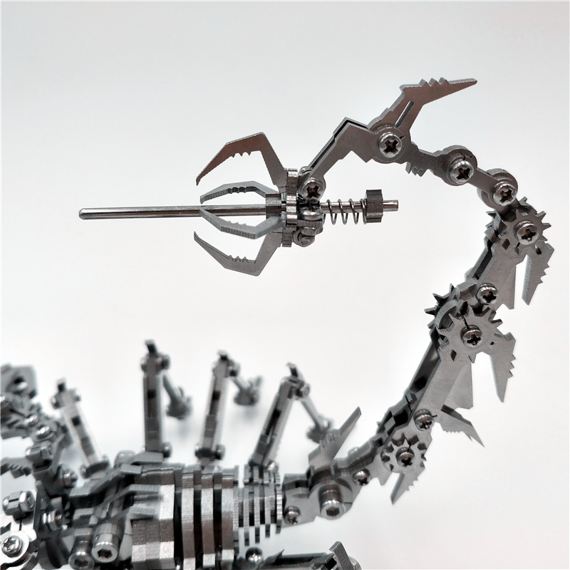 Купить с кэшбэком Robot Insect Scorpion 3D Steel Metal Finished DIY Joint Mobility Miniature Model Kits Puzzle Toys Boy Splicing Hobby Building