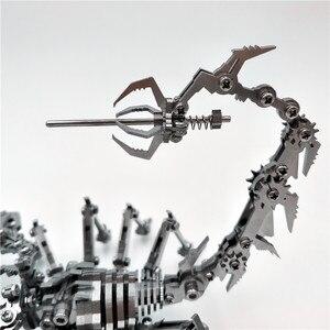 Image 5 - רובוט חרקים עקרב 3D פלדת מתכת סיים DIY תנועת מפרקים מיניאטורי דגם ערכות פאזל ילד שחבור תחביב בניין