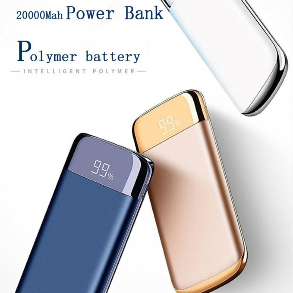 20000mah PoverBank  Battery External Powerbank Power USB Universal Charger Mobile Phone Power for Xiaomi Mi Iphone X(China)