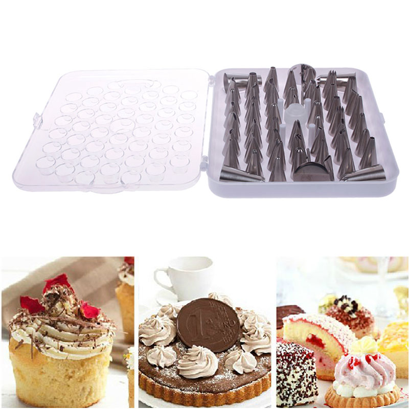 Hot Random Pattern 52Pcs Stainless Steel Piping Nozzle Pastry Tube Fondant  Cake Decorating Tools Set Kitchen Accessories #57609 On Aliexpress.com |  Alibaba ...