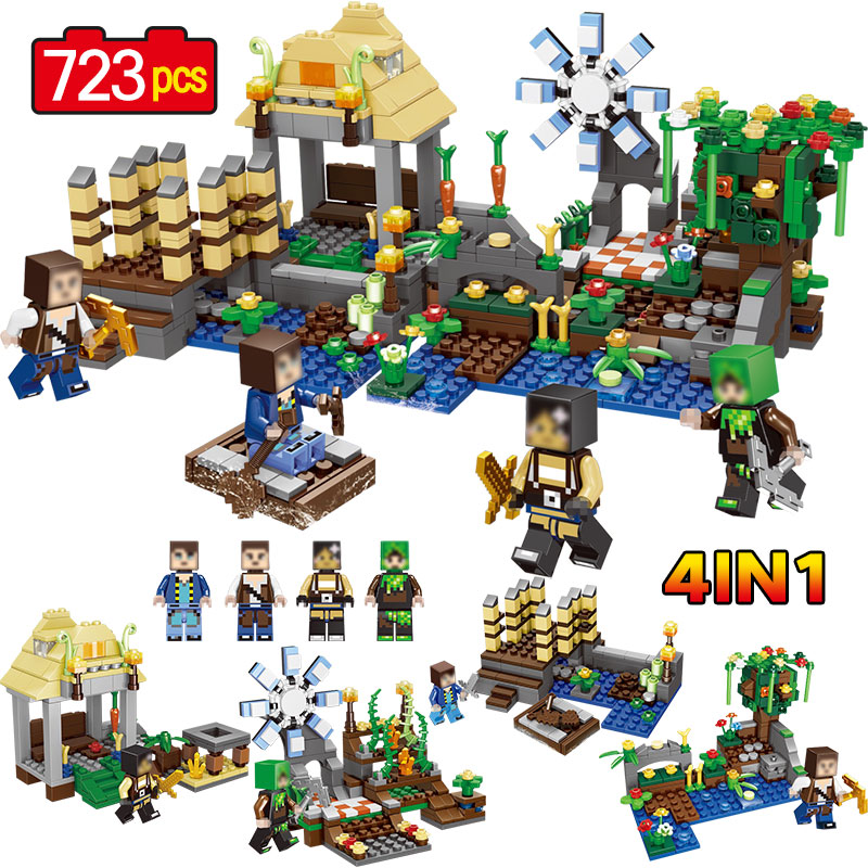 My World Dreamland House Figures Building Blocks Bricks Set Educational Toys for Children Compatible Legoing Minecrafted Gifts bl10470 lepin decool bela building blocks bricks action figures toys minecrafted my world model set gifts for children zombies