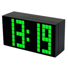 Big Digit Led Alarm Clock Black Durable Wall Clock with Calendar and Temperature School Countdown Timer and