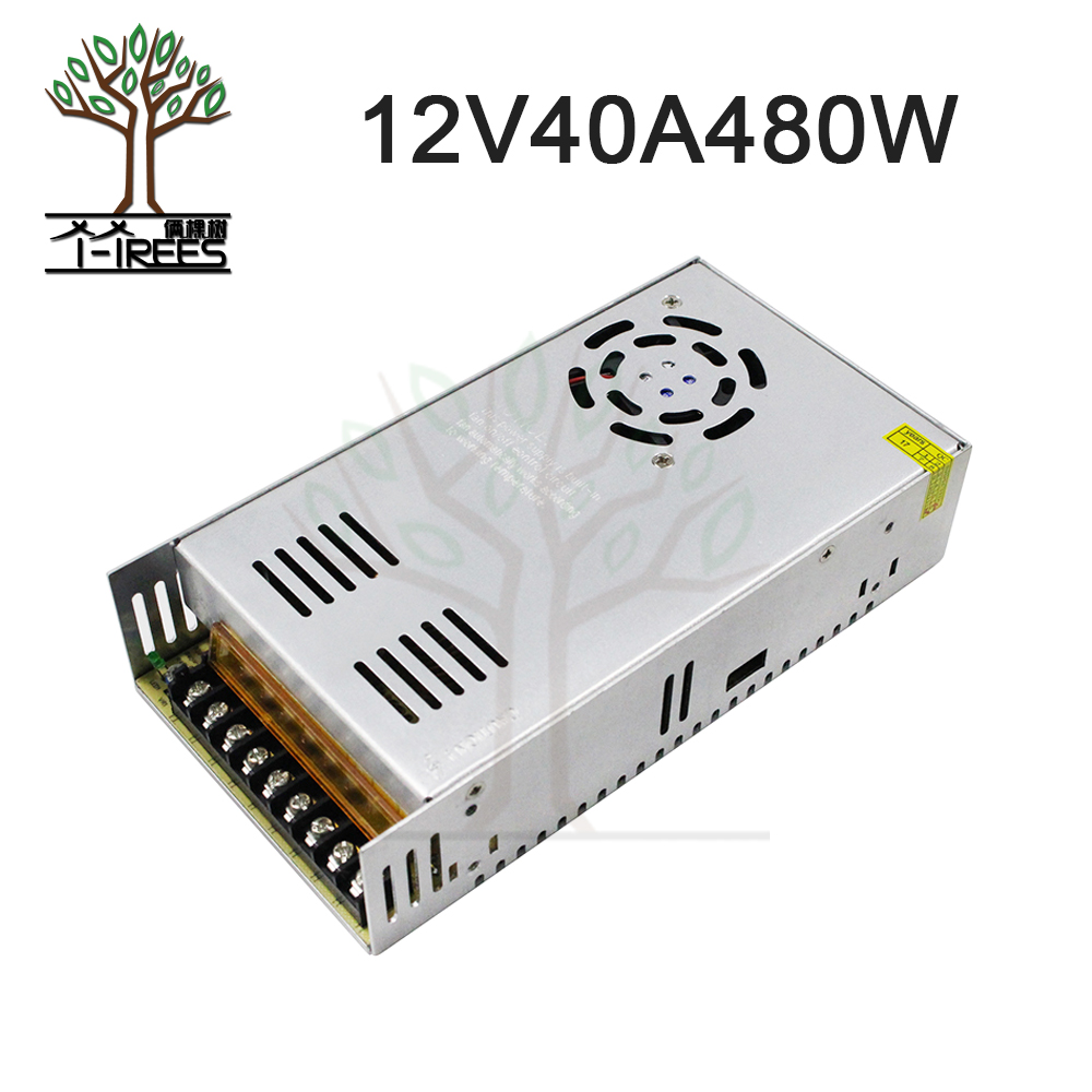цена на Single Output Switching power supply 12V 40A 480W Transformer 220V AC To DC 12 V SMPS For Electronics Led Strip Display 12V40A