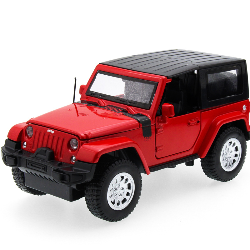 2017 Hot sell 1:32 SUV Wrangler Diecast Alloy Metal Luxury Jeep Car Model Collection Mod ...