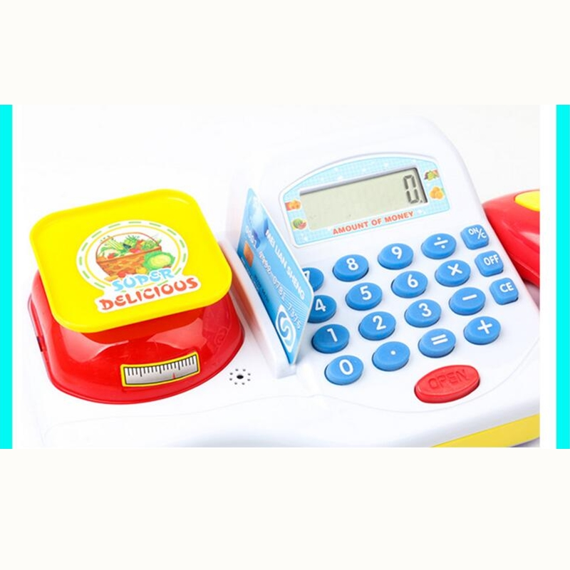 Supermarket Cash Register For Kids Simulation Cash Machine Toys With Calculator and Scanner Children Education Pretend Play Toy Islamabad