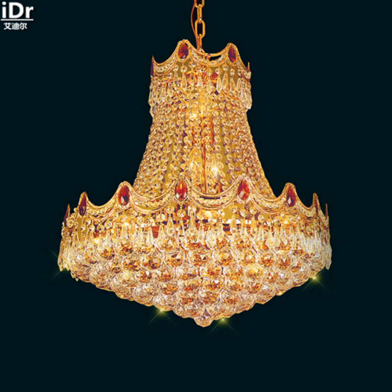 hoogwaardige techniek gouden kroonluchter in de lobby hal slaapkamer lamp verlichting lampen kroonluchters lmy 090