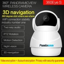 Mới nhất Người Tuyết Wifi Máy Ảnh 360 Độ Fisheye PTZ Trong Nhà IP Camera 1080 p Home An Ninh CCTV Camera Bé Màn Hình Chuyển Động phát hiện