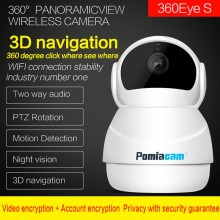 Newest Snowman Wifi Camera 360Degree Fisheye Indoor PTZ IP Camera 1080P Home Security CCTV Camera Baby Monitor Motion Detection